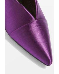TOPSHOP - Purple Juliette V-cut Mules - Lyst