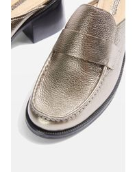 TOPSHOP - Multicolor Kolour Backless Loafers - Lyst