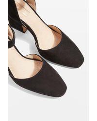 TOPSHOP - Black Grande Mary Jane Heeled Shoes - Lyst