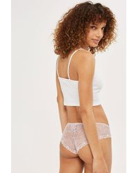 TOPSHOP | Multicolor Lace Mini Knickers | Lyst