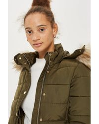 TOPSHOP Multicolor Quilted Puffer Jacket