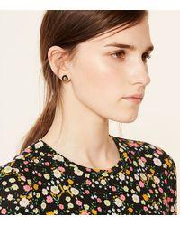 Tory Burch - Metallic Crystal Pearl Stud Earring - Lyst