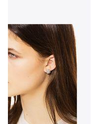 Tory Burch - Metallic Logo Stud Earring - Lyst
