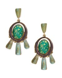 Tory Burch - Multicolor Oxidized-metal Statement Earring - Lyst