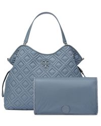 Tory Burch - Blue Marion Quilted Slouchy Baby Bag - Lyst