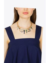 Tory Burch - Metallic Fish Statement Collar - Lyst