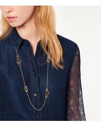 Tory Burch - Metallic Thames Rosary Necklace - Lyst
