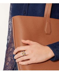 Tory Burch - Metallic Double-wrap Embellished Ring - Lyst