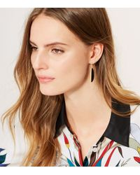 Tory Burch - Black Half Circle Hook Earring - Lyst