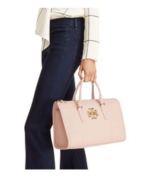 Tory Burch | Black Britten Satchel | Lyst