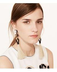 Tory Burch - Multicolor Hanging Tassel Earring - Lyst
