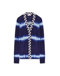 Tory Burch | Blue Lorna Cardigan | Lyst