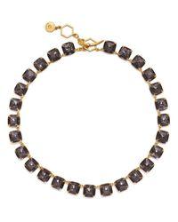 Tory Burch | Metallic Stone Short Necklace | Lyst