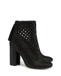 Tory Burch | Black Grove Woven Bootie | Lyst