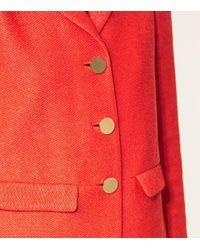 Tory Burch | Red Castleton Peacoat | Lyst