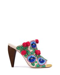 Tory Burch - Multicolor Ellis Embroidered Mule - Lyst