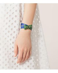 Tory Burch - Blue Double-wrap Frog Bracelet - Lyst