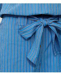 Tory Burch - Blue Robin Cropped Pants - Lyst