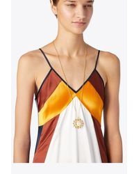 Tory Burch - Metallic Spinning Pendant Necklace - Lyst