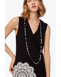 Tory Burch - Multicolor Crystal Pearl Rosary - Lyst