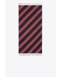 Tory Burch - Blue Vivd Stripe Oblong Scarf - Lyst