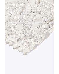 Tory Burch - White Kaleidoscope Embellished Oblong Scarf - Lyst