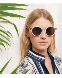 Tory Burch - Metallic Marais Sunglasses - Lyst