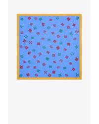 Tory Burch - Blue Hicks Alphabet Embroidered Neckerchief - Lyst