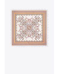Tory Burch - Multicolor Hicks Garden Silk Square Scarf - Lyst