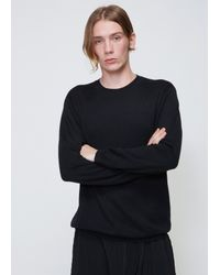 Issey Miyake - Black High Gauge Crew Neck Knit for Men - Lyst