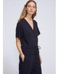 Black Crane - Blue Short Sleeve Jumper - Lyst