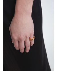 Charlotte Chesnais - Metallic Single Initial Ring (auricular) - Lyst