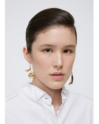 J.W. Anderson - Metallic Daisy And Leaf Floral Earrings - Lyst