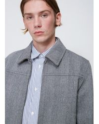 A.P.C. Gray Gris Chine Borovitz Jacket for men