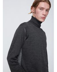 Issey Miyake - Gray Charcoal Grey High Gauge Turtleneck Knit for Men - Lyst