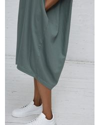 Black Crane - Green Dark Forest Accordion Dress - Lyst