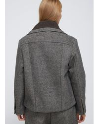 Craig Green Gray Grey Bonded Tweed Denim Jacket