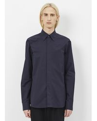 Marni - Blue Navy Hidden Placket Shirt for Men - Lyst