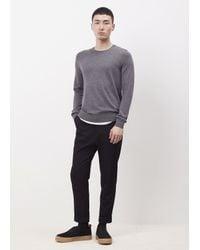 Acne Studios - Gray Grey Melange Clissold O Crewneck Sweater for Men - Lyst
