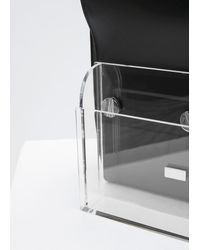 Hugo Matha - Black Calf Transparent Clutch With Tote - Lyst