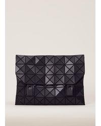 Bao Bao Issey Miyake | Matte Black Rock Matte Messenger Bag | Lyst