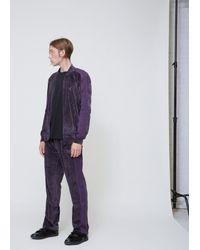 Needles - Multicolor Charcoal Velour Track Jacket for Men - Lyst