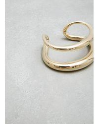 Gabriela Artigas - Metallic Plated Yellow Twin Tusk Cuff - Lyst