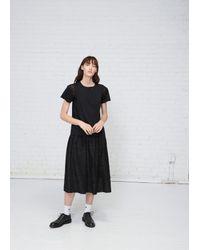 Noir Kei Ninomiya - Black Lace Trim Cotton Tee - Lyst