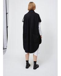 Y's Yohji Yamamoto - Black K-sleeveless Coat - Lyst