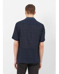 Cmmn Swdn | Blue Navy Check Deven Popover Shirt for Men | Lyst