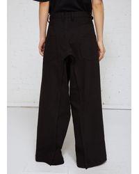 Yohji Yamamoto Black Flap Pant