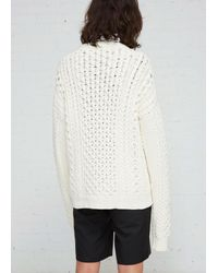 J.W. Anderson - White Embroidered Cable Jumper for Men - Lyst