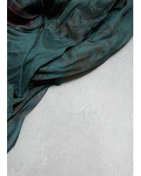 Y's Yohji Yamamoto - Green Printed Stole - Lyst
