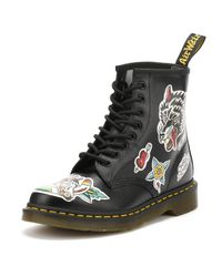 Dr. Martens - Dr. Martens Womens Black Backhand 1460 Chris Lambert Uk Boots - Lyst
